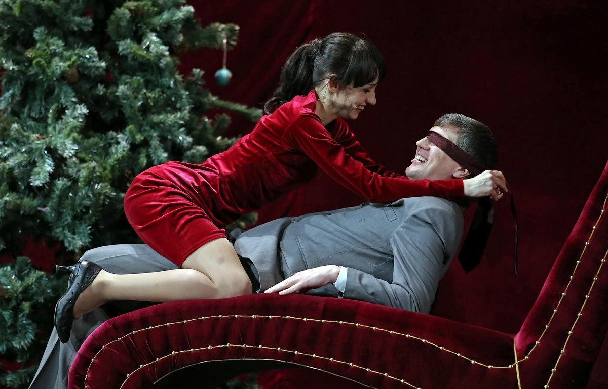 A Dolls House by Ibsen. Maksim Gorkij theatre, Russia. Yana Myalk and Sergei Lisinchuk.
